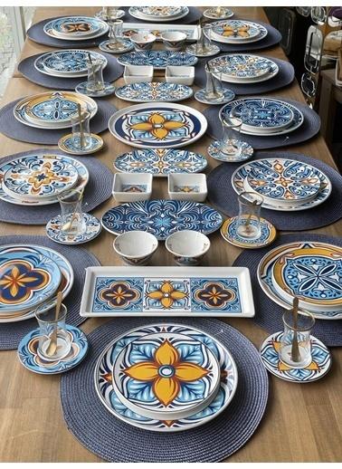 ROSSEV Kahvaltı Takımı Toscana 87 Parça 12 Kişilik Renkli